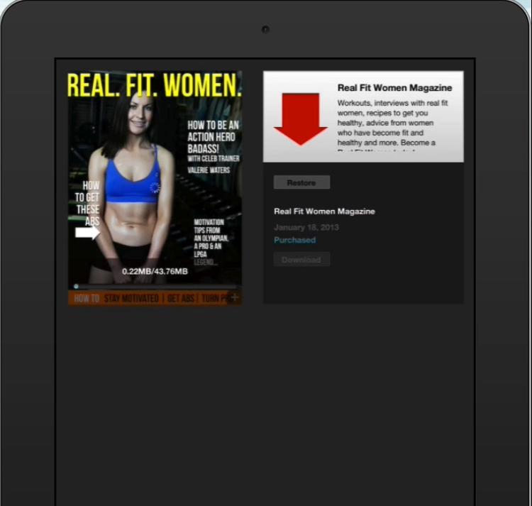 RealFitWomenHomeScreen